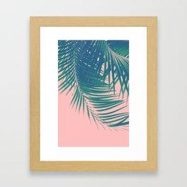 Palm Leaves Blush Summer Vibes #2 #tropical #decor #art #society6 Framed Art Print