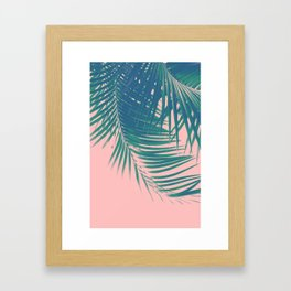 Palm Leaves Blush Summer Vibes #2 #tropical #decor #art #society6 Framed Art Print