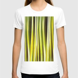 Yellow Ochre and Brown Stripy Lines Pattern T-shirt