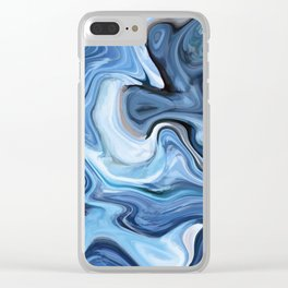 Marble texture print Clear iPhone Case