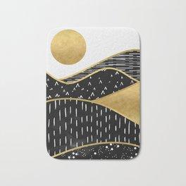 Gold Sun, digital surreal landscape Bath Mat