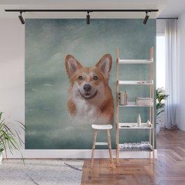 Drawing Dog breed Welsh Corgi portrait Wall Mural