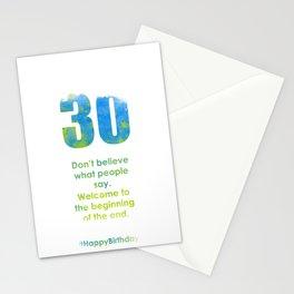 AgeIsJustANumber-30-SkyTreeB Stationery Cards