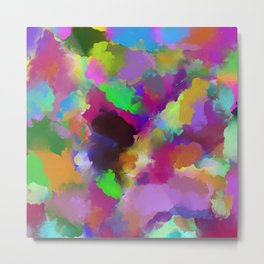 Expression Of Colour - Abstract, modern painting Metal Print