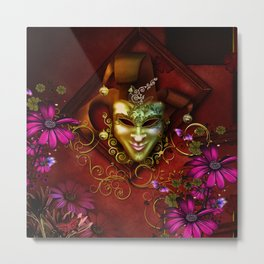 Wonderful venetian mask Metal Print