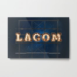 LAGOM  - Hotel - Wall-Art for Hotel-Rooms Metal Print