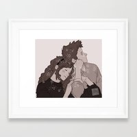 twins Framed Art Prints featuring twins by JohannaTheMad
