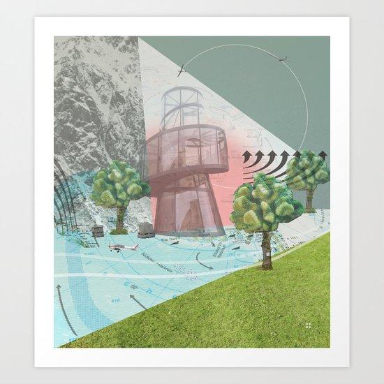 atmosphere 10 · Storm is comming Art Print