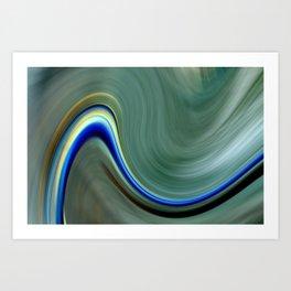 Electric Wave Art Print
