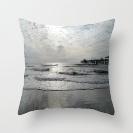 On A Stormy Winterday Throw Pillow
