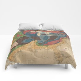 Vintage United States Geological Map (1872) Comforters