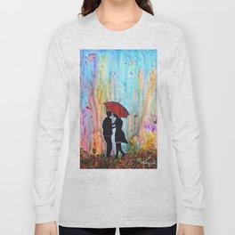 A Rainy Date romantic painting giftart Long Sleeve T-shirt