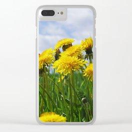 Dandelion meadow Clear iPhone Case