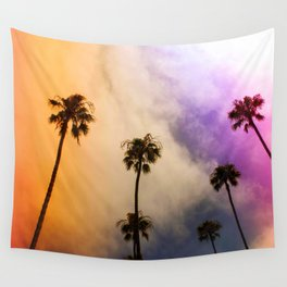 candy puffy clouds Wall Tapestry