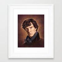 benedict cumberbatch Framed Art Prints featuring Benedict Cumberbatch by Svenja Gosen