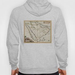 Vintage Map of Saudi Arabia (1662) Hoody