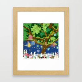 Dancing under Lights of Night Framed Art Print