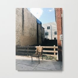 lone chair, south philly Metal Print