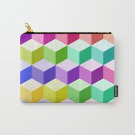 Cube Pattern Multicolored Carry-All Pouch