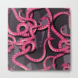 Snakes pattern 004 Metal Print