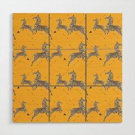 Royal Tenenbaums Zebra Wallpaper - Mustard Yellow Wood Wall Art