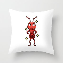 Ant Insect Nest State Comic Kids Gift Throw Pillow