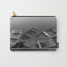 Four Skiffs Black and White Carry-All Pouch