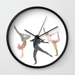Astral Yoga Wall Clock