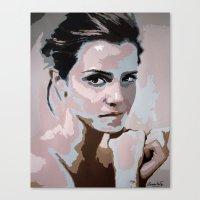 emma watson Canvas Prints featuring Emma Watson by Sensitive Derais