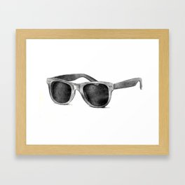 B&W Raybans - Drawing Framed Art Print