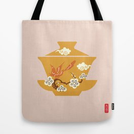 Chinese Antique - Tea Cup Tote Bag
