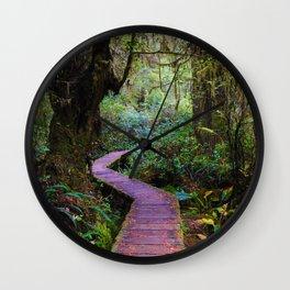 Rainforoest Trail, Vancouver Island BC Wall Clock