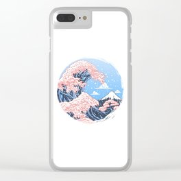 Wave Cherry Tree Clear iPhone Case