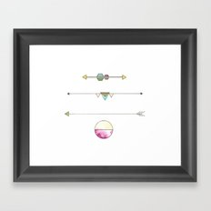 Shapes and Arrows Framed Art Print