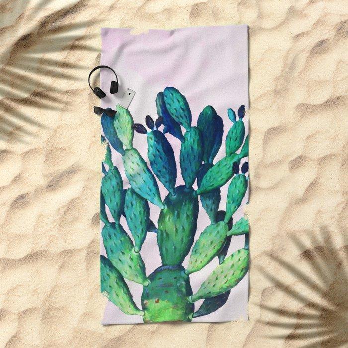 Cactus Three Ways #society6 #decor #buyart Beach Towel