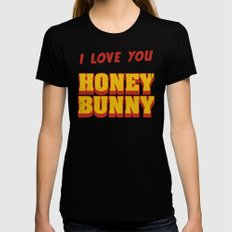 HONEY BUNNY Womens Fitted Tee X-LARGE Black