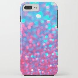 Blue Pink Sparkle Blur iPhone Case