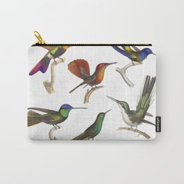 Six Colorful Hummingbirds Carry-All Pouch