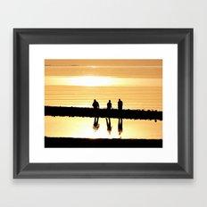 Reflection of Friendship Framed Art Print