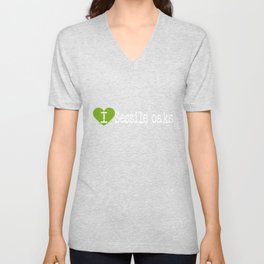 I Heart Sessile oaks | Love Sessile oaks Unisex V-Neck
