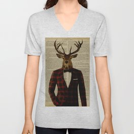Lord Stag Unisex V-Neck