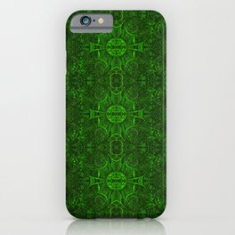 Butterfly Forest Bohemian Arabesque Pattern Emerald iPhone Case