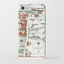 STANFORD CALIFORNIA University map iPhone Case