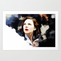 peggy carter Art Prints featuring Peggy Carter by Ms. Givens