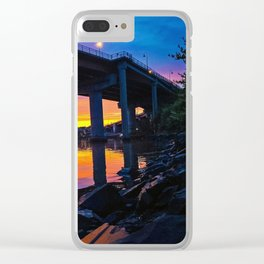 Spring Sunset by the Casco Bay Bridge Clear iPhone Case