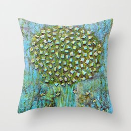 Turquoise home Throw Pillow