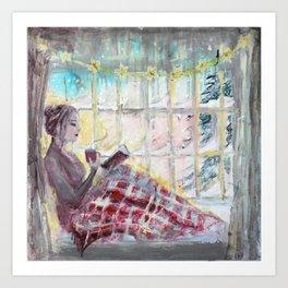Reading Season:Wintertime Art Print
