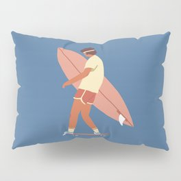 Surf poster Pillow Sham