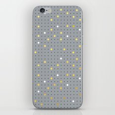 Pin Points Grey, Gold and White iPhone & iPod Skin
