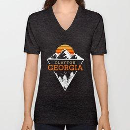 Clayton Georgia Unisex V-Neck